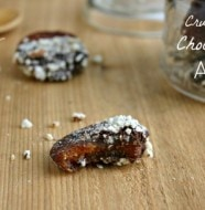 Chocolate Covered Apricots with Crushed Almonds