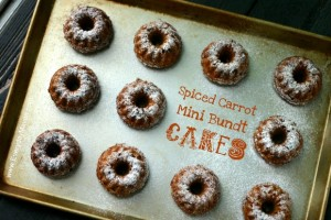 Spiced Carrot Mini Bundt Cakes