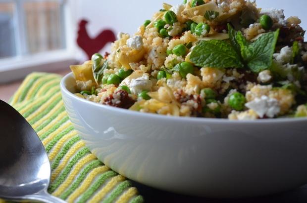 Mediterranean Couscous Salad from www.KaristasKitchen.com
