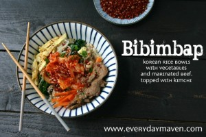 Bibimbap {Bee-Bim Bop! in Toddler}