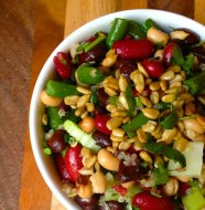 Healthy Four Bean Salad from Liz at www.thelemonbowl.com