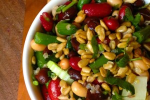 Healthy Four Bean Salad Recipe from The Lemon Bowl