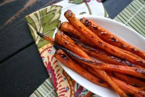 Maple & Cardamom Glazed Carrots