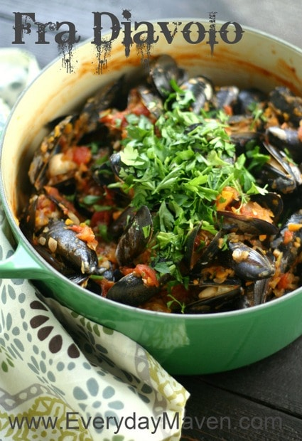 Mussels Fra Diavolo by www.everydaymaven.com