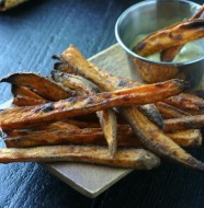 Crispy Baked Sweet Potato Fries from www.everydaymaven.com
