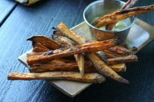 Crispy Baked {Old Bay} Sweet Potato Fries