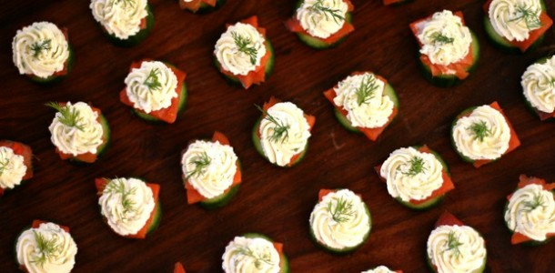 Persian Cucumber, Lox & Dill Cream Cheese Bites from www.EverydayMaven.com