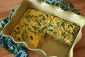 Food Bloggers Against Hunger: Asparagus, Dill + Onion Egg Casserole