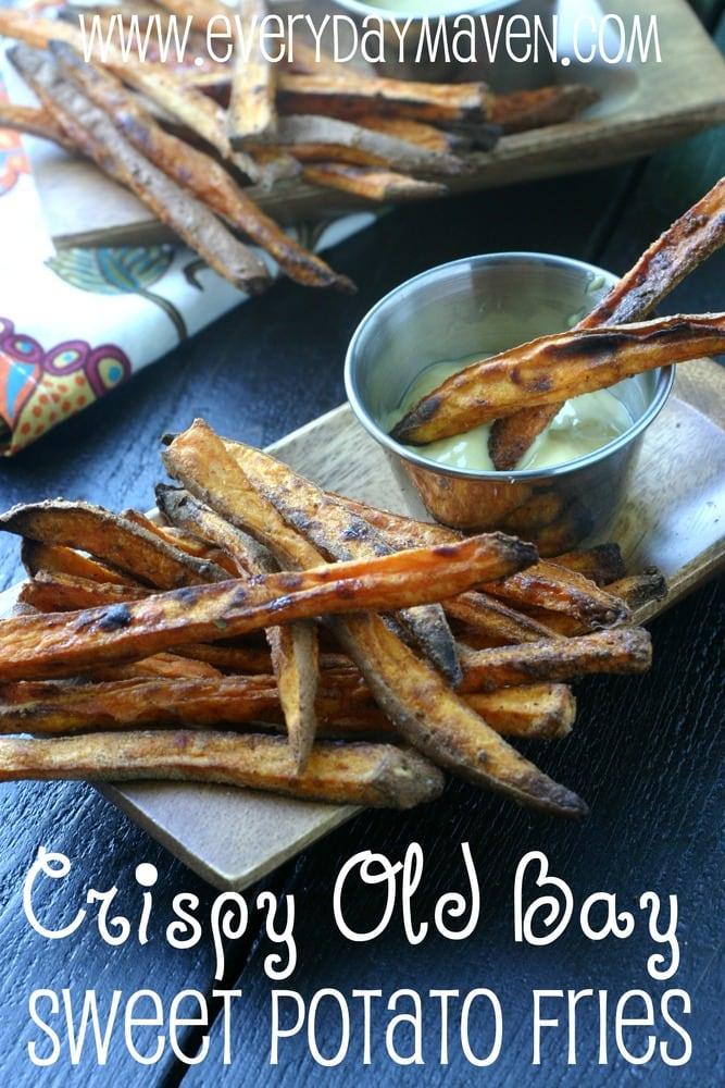 Baked Sweet Potato Fries. Crispy Baked Old Bay Sweet Potato Fries.