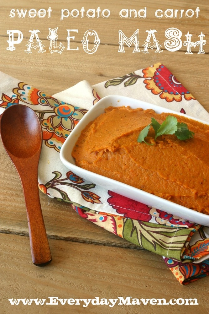 Paleo Sweet Potato and Carrot Mash from www.everydaymaven.com