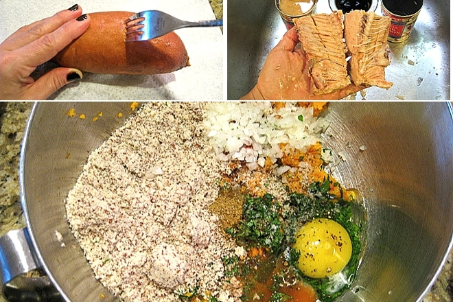 step by step photos to make salmon cakes recipe