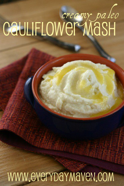 Paleo Cauliflower Mash Recipe from www.everydaymaven.com