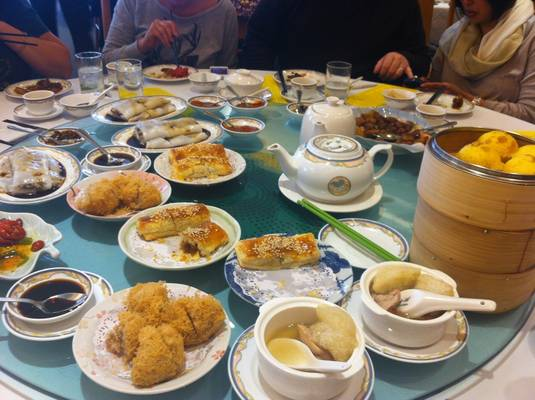 Dim Sum for 12. A couple courses in at this point.