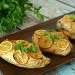 Spice Roasted Chicken Breasts with Lemon Slices