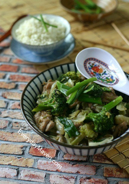Paleo Chicken Stir Fry Recipe. Soy-Free. Grain-Free. Healthy Chicken Stir Fry with Broccoli and Cabbage.