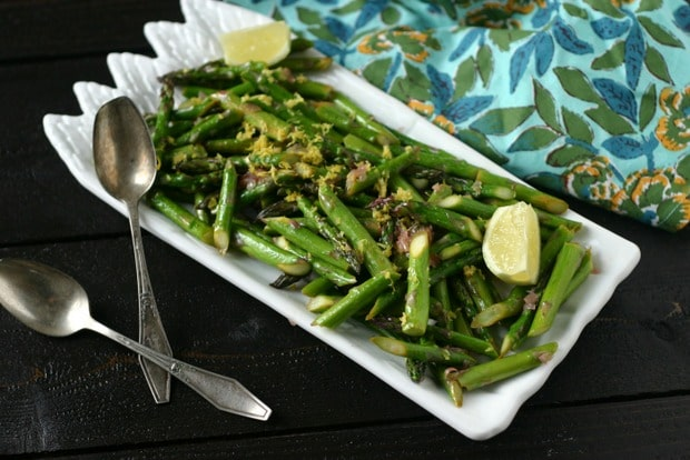 Sautéed Asparagus with Shallot + Lemon