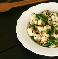 Grilled Cauliflower with Basil and White Balsamic Vinegar from www.everydaymaven.com