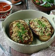 Paleo Stuffed Eggplant from www.everydaymaven.com