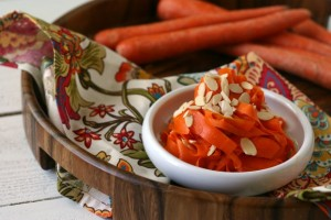 Curried Carrot Salad with Sliced Almonds