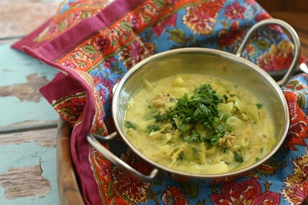 Punjabi Style Chicken Soup with Cabbage {Paleo, Whole30}
