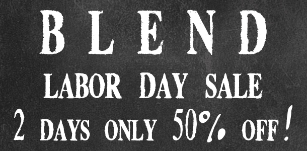 BLEND Labor Day Flash Sale at www.simplyartisanal.com