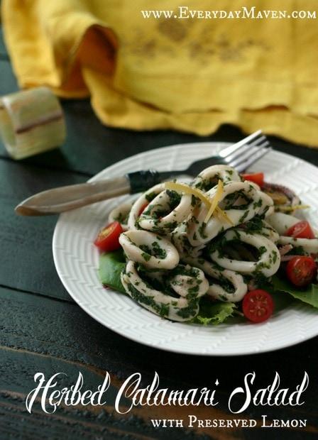 Calamari Salad with Preserved Lemons from www.everydaymaven.com