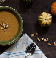 Pumpkin Carrot Soup from Olive and Herb