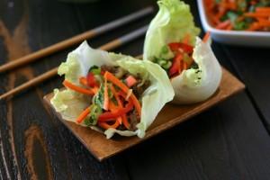 Thai Beef Basil Lettuce Wraps
