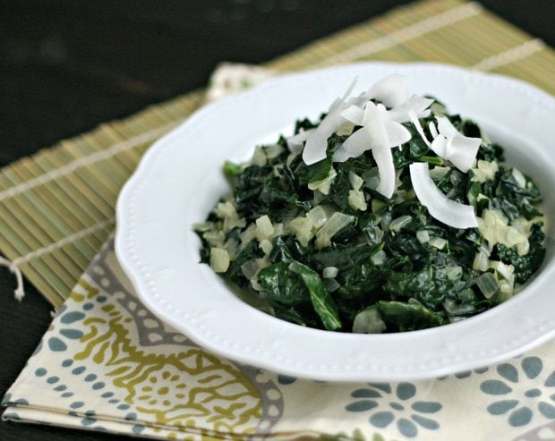 Vegan Coconut Creamed Kale