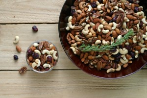 Rosemary Mixed Nuts with Cranberries