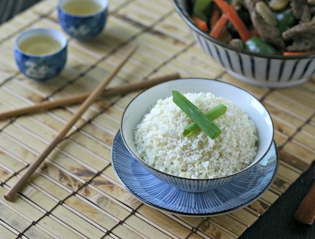 Ginger Coconut Cauliflower Rice