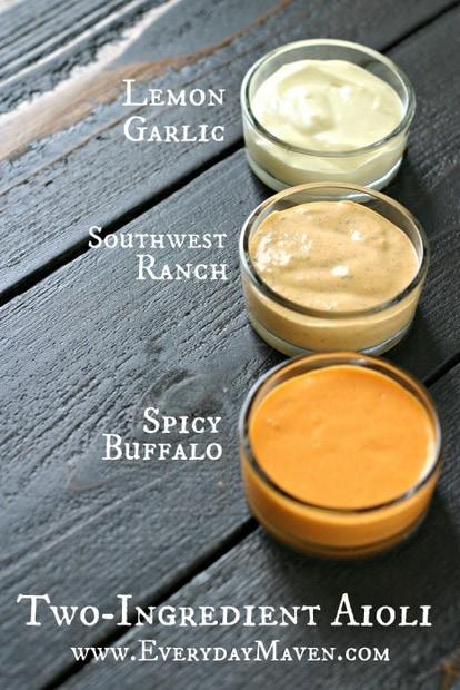 How To Make Two Ingredient Aioli with Tessemae's from www.everydaymaven.com