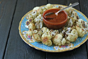 Italian Roasted Cauliflower with Marinara from www.everydaymaven.com