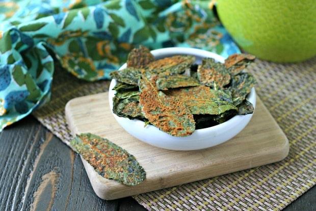 Spicy Nacho Kale Chips {Vegan, Paleo}