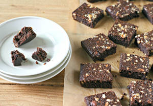 Hazelnut Brownies. Paleo, Grain Free and Gluten Free from www.EverydayMaven.com