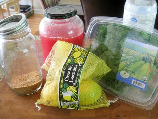 ingredients to make watermelon cooler