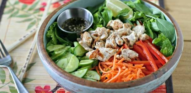 ... vietnamese herb salad with lemongrass chicken and my vietnamese salad