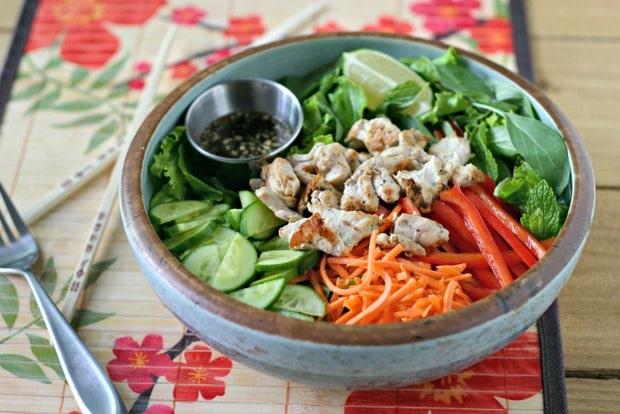 Vietnamese Herb Salad with Lemongrass Chicken