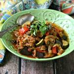 Slow Cooker Sausage and Vegetable Ratatouille from www.EverydayMaven.com