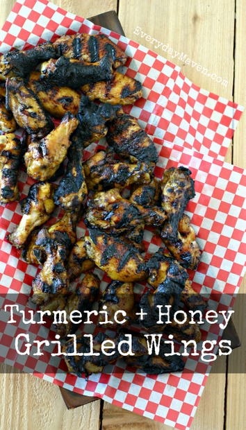 Honey Turmeric Wings from www.EverydayMaven.com