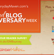 Reader Survey and 3 Giveaways for my Blog-Anniversary! from www.EverydayMaven.com