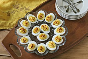 Deviled Eggs with Truffle Salt from www.EverydayMaven.com