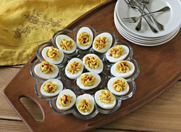 Deviled Eggs with Truffle Salt