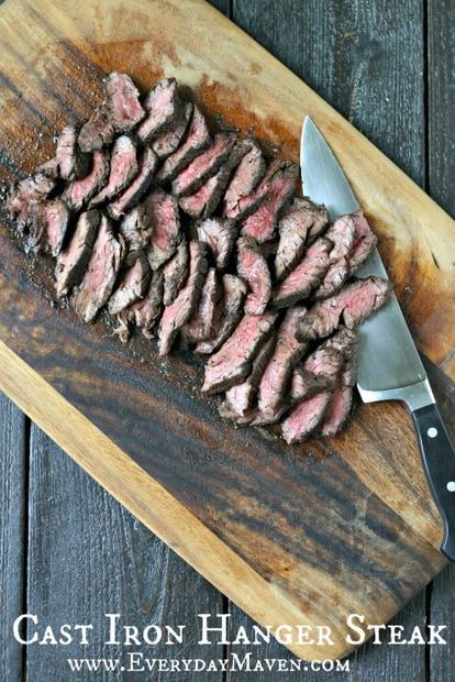 Cast Iron Hanger Steak from www.EverydayMaven.com