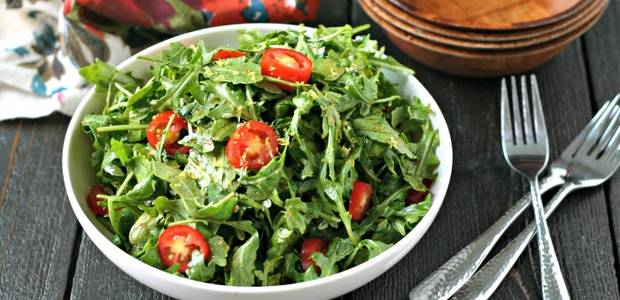Arugula Salad with Lemon Balsamic Dressing