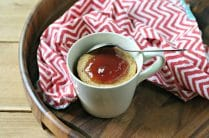 Grain Free Peanut Butter and Jelly Mug Cake from www.EverydayMaven.com