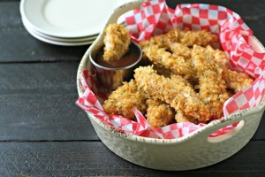 Potato Chip Crusted Chicken Fingers