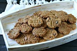 Grain Free Peanut Butter Cookies with Maple Bacon