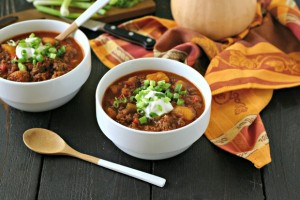 Beef Chili with Butternut Squash from www.EverydayMaven.com