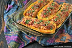 Cheesy Stuffed Delicata Squash from www.EverydayMaven.com